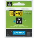 Etykiety, taśma DYMO D1 6mm - S0720790 (43618) taśma żółta, nadruk czarny -KURIER od 15zł!
