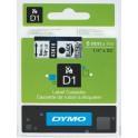 Etykiety, taśma DYMO D1 6mm - S0720770 (43610) taśma przezroczysta, nadruk czarny -KURIER od 15zł!