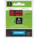 Etykiety, taśma DYMO D1 9mm - S0720720 (40917) taśma czerwona, nadruk czarny -KURIER od 15zł!