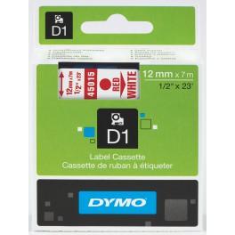Etykiety, taśma DYMO D1 12mm - S0720550 (45015) taśma biała, nadruk czerwony -KURIER od 15zł!