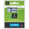 Etykiety, taśma DYMO D1 12mm - S0720540 (45014) taśma biała, nadruk niebieski -KURIER od 15zł!