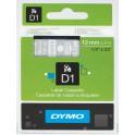 Etykiety, taśma DYMO D1 12mm - S0720600 (45020) taśma przezroczysta, nadruk biały -KURIER od 15zł!