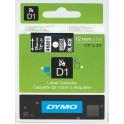 Etykiety, taśma DYMO D1 12mm - S0720610 (45021) taśma czarna, nadruk biały -KURIER od 15zł!