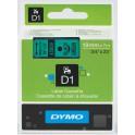 Etykiety, taśma DYMO D1 19mm - S0720890 (45809) taśma zielona, nadruk czarny -KURIER od 15zł!