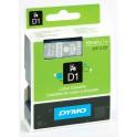 Etykiety, taśma DYMO D1 19mm - S0720900 (45810) taśma przezroczysta, nadruk biały -KURIER od 15zł!