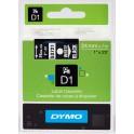 Etykiety, taśma DYMO D1 24mm - S0721010 (53721) taśma czarna, nadruk biały -KURIER od 15zł!