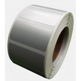 Etykiety foliowe srebrne na tabliczki znamionowe plomby 70x25 1000szt mocne